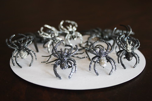 Homemade Glitter Spider Rings