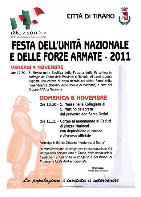 FESTA UNITA' NAZIONALE E DELLE FORZE ARMATE 2011 - TIRANO