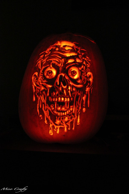 Halloween 2011 - Melting Face Pumpkin 2