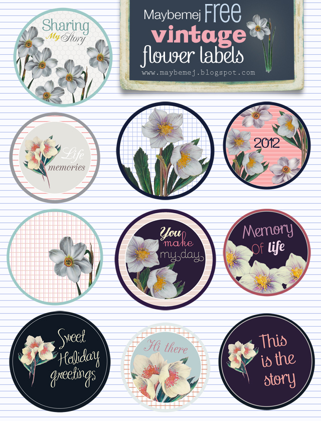 Free digital labels - printable - high resolution