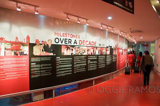 Malaysia - AirAsia LCCT office wall milestones