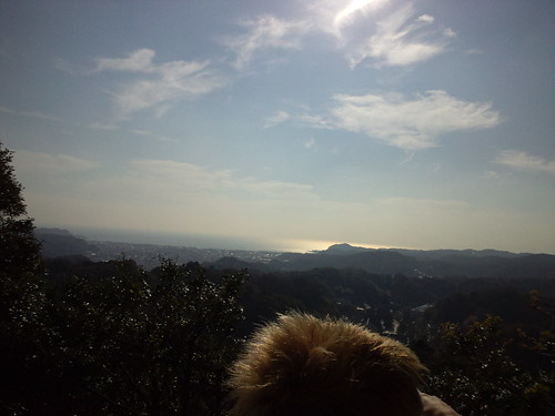 鎌倉 建長寺の山の上より相模湾を望む。