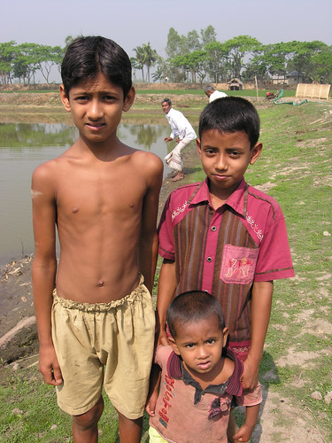 Boys from a fishing village, Bangladesh. Photo by Peter Fredenburg, 2009