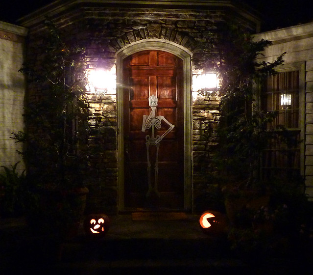 P1010665-2011-10-31-Halloween-Pumpkins-Jack-O-Lanterns-Skeleton-Door-detail