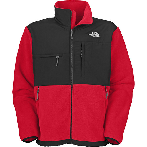 North-Face-Mens-Grey-Black-Denali-Fleece-Jackets