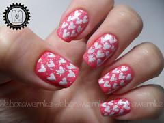 Nail Art - Coracionando Forever (DboraWernke) Tags: heart rosa impala nailart