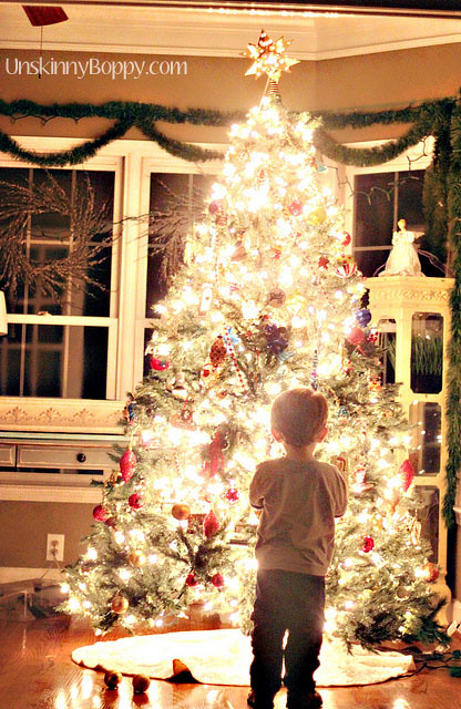 how to christmas tree at night