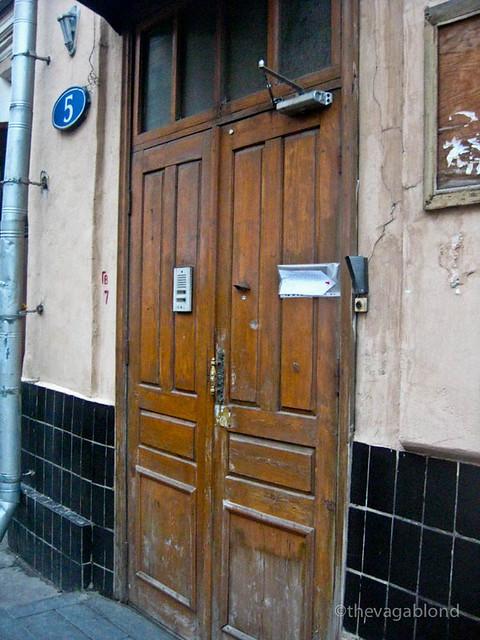 Doorway to our Hostel