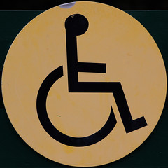 Wheelchair access (Leo Reynolds) Tags: sign canon eos wheelchair 7d squaredcircle f80 iso320 0003sec signrestroom signinformation hpexif 165mm sqset070 xleol30x xxx2011xxx