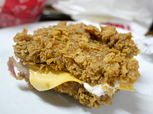 KFC's ZINGER DOUBLE DOWN FTW! | Food Trippings