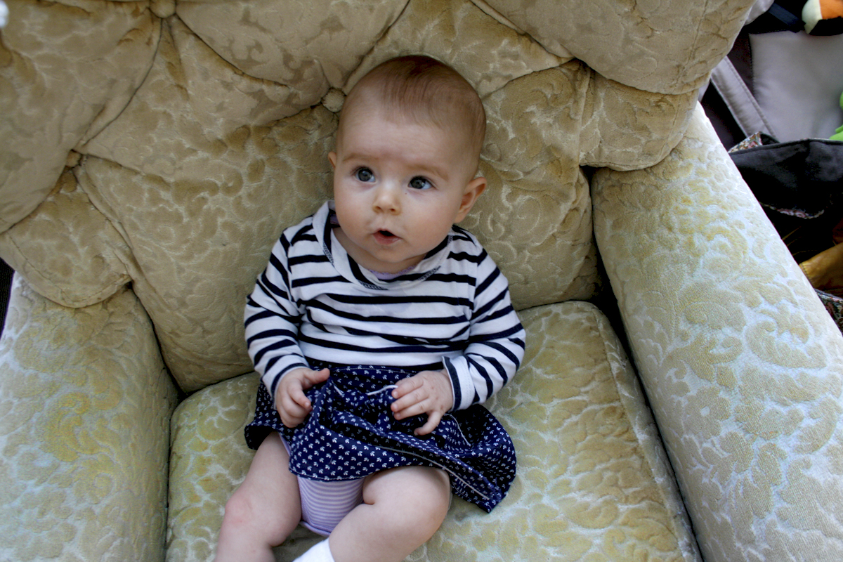 Audrey Eleanor:  4 Months Old