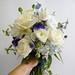 roses, ranunculus, hydrangea, cornflower