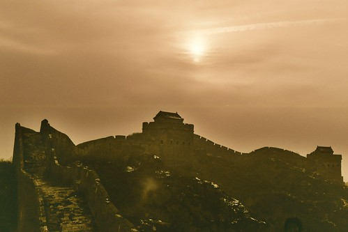 Setting sun over Jinshanling