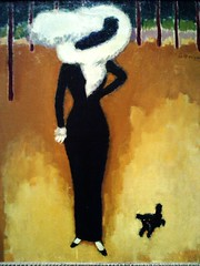 Kees Van Dongen -- Parisian lady, 1910 (Remedy from the norm) Tags: dog pet museum lady photography photo artwork richmond photograph 1910 richmondva parisian oiloncanvas vmfa virginiamuseumoffinearts keesvandongenart