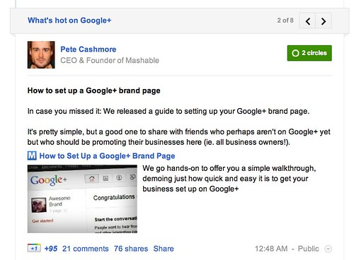 Now in the Stream: What's Hot on Google+ by stevegarfield
