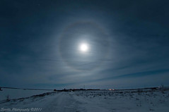 Moon Halo 11.10.2011 (savillent) Tags: new november sky moon canada night stars landscape francis photography nikon neon space north nwt full arctic anderson astrophotography northwestterritories saville lunar 2011 tuktoyaktuk d300s