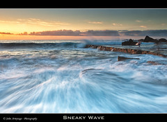 Sneaky Wave (John_Armytage) Tags: seascape beach sunrise movement photographer wave australia nsw 5d forrestersbeach canon1740lusm centralcoastnsw canoneos5dmark11 johnarmytage wwwjohnarmytagephotographycom