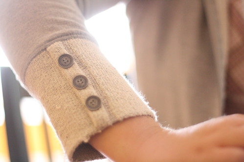 button cuffs.