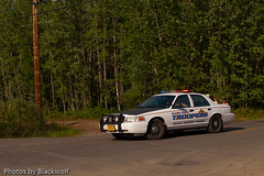 The Alaska State Troopers (blkwolf1017) Tags: car alaska lights ast cops canon20d ak police wildfire northpole fordcrownvictoria sigma2470mm alaskastatetroopers lawenforcementofficer nleaf