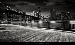 Manhattan by night #5 (bgspix) Tags: city nyc bridge blackandwhite bw ny newyork skyline brooklyn night canon us interesting cityscape skyscrapers noiretblanc manhattan bynight brooklynbridge manhattanbridge eastriver newyorkskyline pont uga nuit ville 1022 lumières noirblanc newyorkbynight uwa gratteciel canonefs1022mmf3545usm nybynight manhattanbynight canon60d newyorkdenuit eos60d benjamings manhattandenuit bgsphotography bgspix