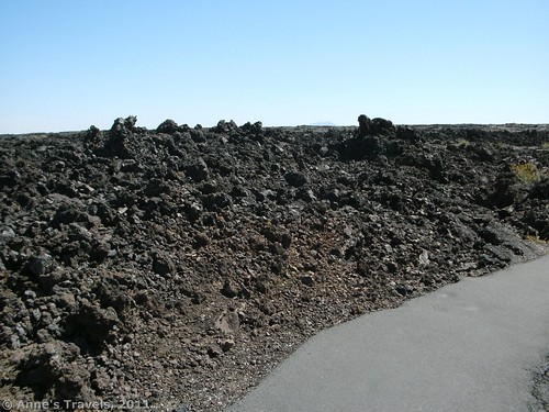 The trail to the caves in Craters of the Moon National Monument
