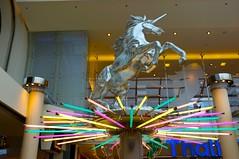 =O (austrianpsycho) Tags: building neon unicorn gebäude einhorn pasching einkaufszentrum pluscity
