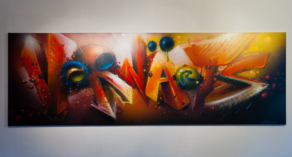 Vorwärts (Forward) by SEAK on canvas (Leinwand)
