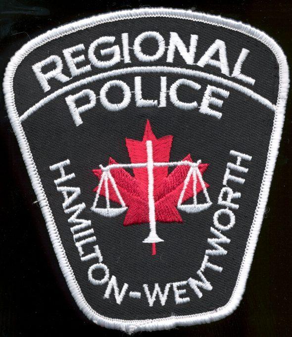 Policajná nášivka Hamilton-Wentworth Kanada