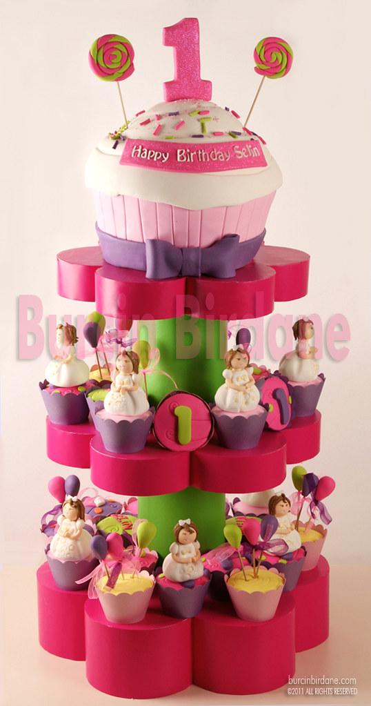 1st Birthday Cupcake Stand