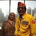 Navajo Code Talker Samuel Holiday and daughter, Helena Begaii at a reception and silent auction hosted by HBO in New York, N.Y. Proceeds from the silent auction will go towards a $40 million capital campaign to build a National Navajo Code Talker Museum and Visitor Center on the Navajo Nation. Photo by Jared King / NNWO.  This Navajo Nation Washington Office photograph is being made available only for publication by news organizations and/or for personal use printing by the subject(s) of the photograph. The photograph may not be manipulated in any way and may not be used in commercial or political materials, advertisements, emails, products, and promotions.