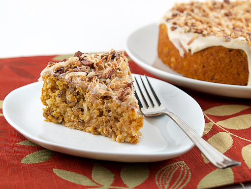 Sweet Potato Pecan Coconut Cake