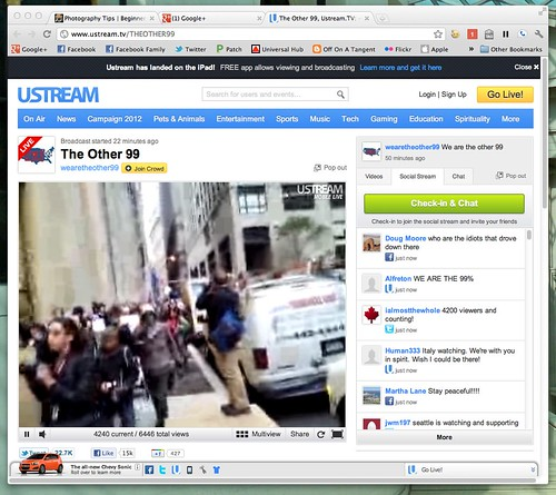 Marching on Wall street #ows Live Stream by @TheOther99 @Iwilloccupy by stevegarfield
