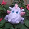 Posing (tintocktap) Tags: pink dragon crochet lavender petal amigurumi russian