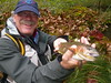 Harry pleased with a nice Rainbow caught on a dry fly rig