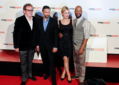 Actors team Hell On Wheels - Red Carpet Mipcom 2011