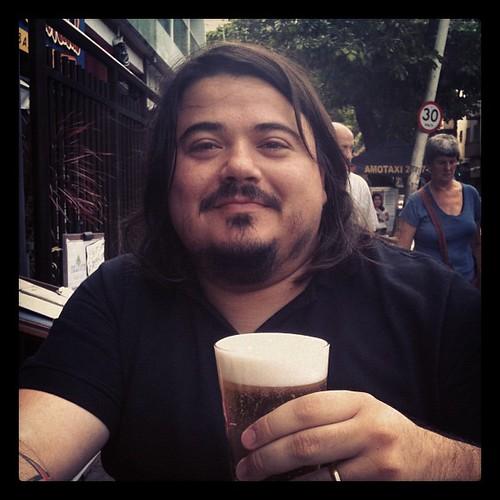 A beer with @fabricio_nobre in Rio