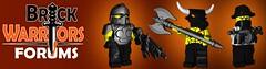 BrickWarriors Forums Now Live! (BrickWarriors - Ryan) Tags: lego forum helmet armor minifig launch custom weapons brickwarriors