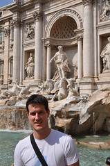 Rob at the Trevi Fountain