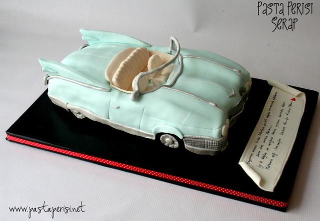 cadillac araba pastası