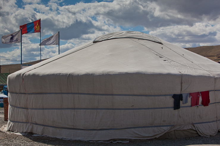exterior of ger in Mongolia