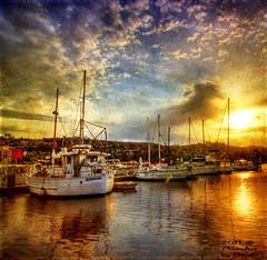 Sunset at the Marina (PhotoArt Images) Tags: texture boat tasmania photoart launceston flickrdiamond aboveandbeyondlevel1 aboveandbeyondlevel2 aboveandbeyondlevel3 photoartimages
