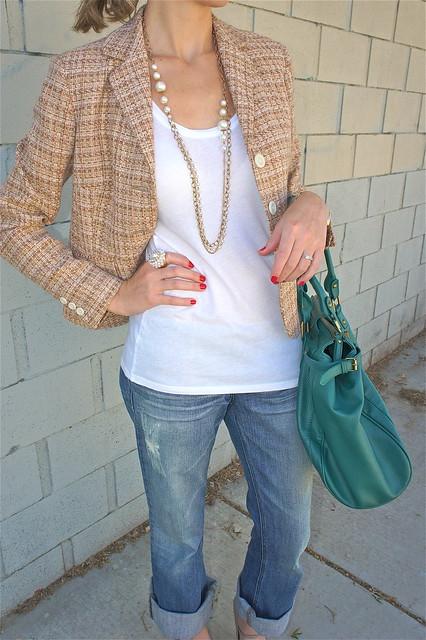 Fall tweed blazer