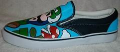 Super Mario Bro 3 (left inside) (Kivadeno) Tags: shoes brothers nick nintendo super mario sneakers invader bro custom zim luigi gir girr nicktoons nickalodeon