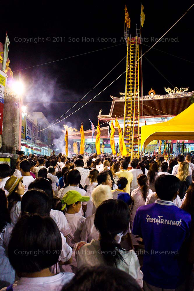 Blade Walking @ Phuket Vegetarian festival 2011, Phuket, Thailand
