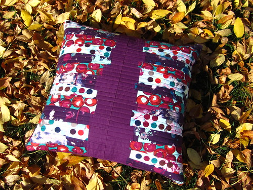 Habitat fabric challenge, pillow front