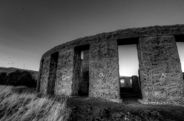 Stonehenge, Washington in B&W