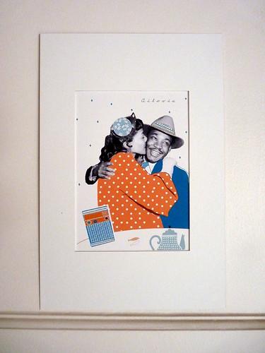 Retro first kiss wall by la casa a pois