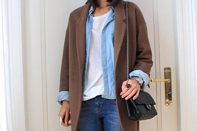 boyfriend camel coat
