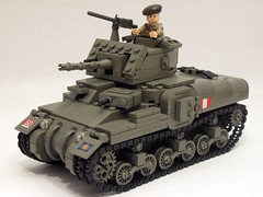 "Canadian Ram Tank Mk.II (early production) with finalized new front slope. (""Rumrunner"") Tags: world 2 army war tank lego wwii canadian 2nd ii ww2 ww ram worldwar2 brigade mkii allies armoured brickarms m1919"