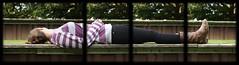 stiff as a board (Mikey B_) Tags: urban woman london girl grass boots jeans jumper